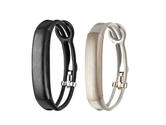 Jawbone UP2 His & Her Lightweight Strap Fitness Trackers for Smartphones - 2 Pack - Black & Oat