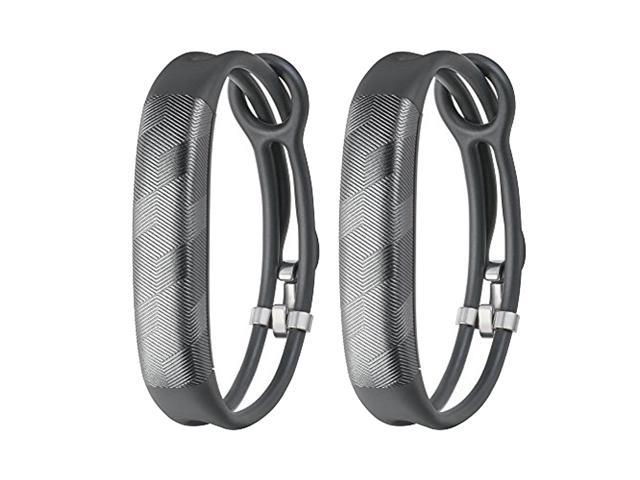 Jawbone UP2 His & Her Lightweight Strap Fitness Trackers for Smartphones - 2 Pack - Gray & Gray