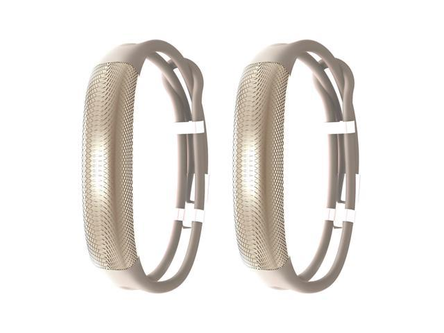 Jawbone UP2 His & Her Lightweight Strap Fitness Trackers for Smartphones - 2 Pack - Oat & Oat