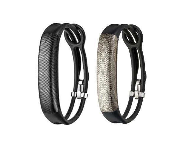 Jawbone UP2 His & Her Lightweight Strap Fitness Trackers for Smartphones - 2 Pack - Black & Black Gold