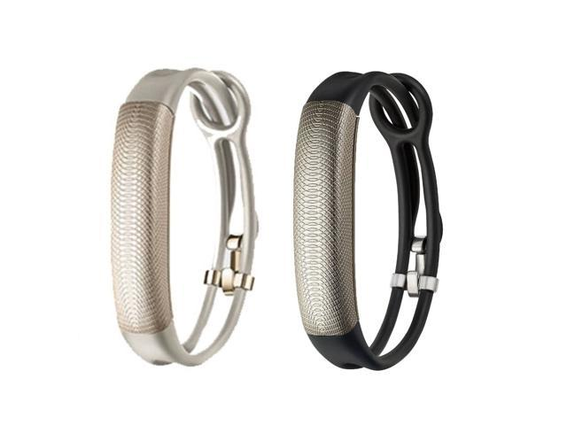 Jawbone UP2 His & Her Lightweight Strap Fitness Trackers for Smartphones - 2 Pack - Black Gold & Oat