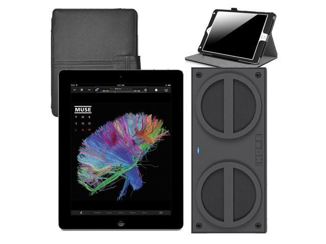 Refurbished: Apple iPad Mini MD529LL/A (32GB, Wi-Fi, Black)  + iHome iBN24 Bluetooth Mini Speakers + iPad Mini Case - OEM
