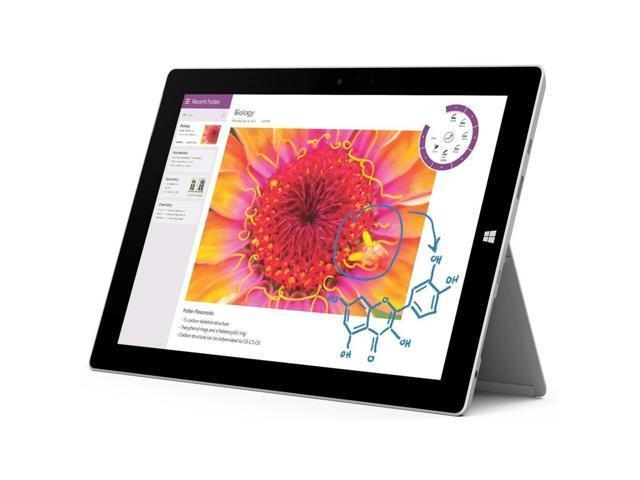 "Refurbished: Microsoft Surface Pro 3 5340965 Intel Core i5 4th Gen 4300U (1.90 GHz) 8 GB Memory 256 GB SSD Intel HD Graphics 4400 12"" Touchscreen 2160 x 1440 Detachable 2-in-1 Laptop Windows 10 Pro 64-bit"