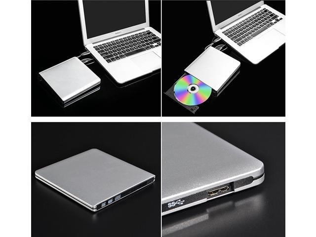 ieGeek USB 3.0 External DVD Drive, CD Burner Ultra Slim Portable CD DVD RW/DVD CD ROM Drive/Writer/Rewriter High Speed DVD Reader