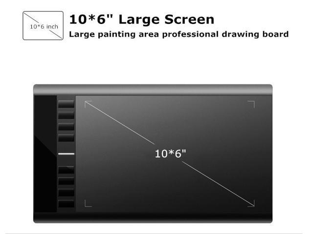 "UGEE M708 Professional Digital Graphics USB Drawing Tablet 10""x 6"" 5080LPI 2048 Levels 230 RPS Rechargeble Pen Huion Graphic Tablet"