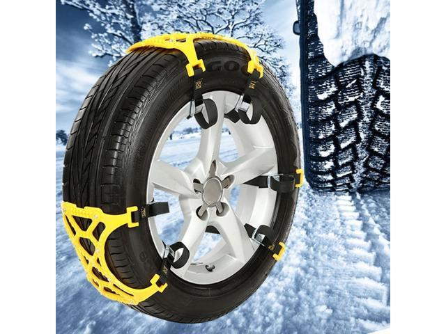 Anti Snow Chains of Car, Car Snow Tire Chain, Easy To Install Car Tire Emergency Thickening Anti-Skid Chain, Fit for Most Car/SUV/Truck - Set of 6