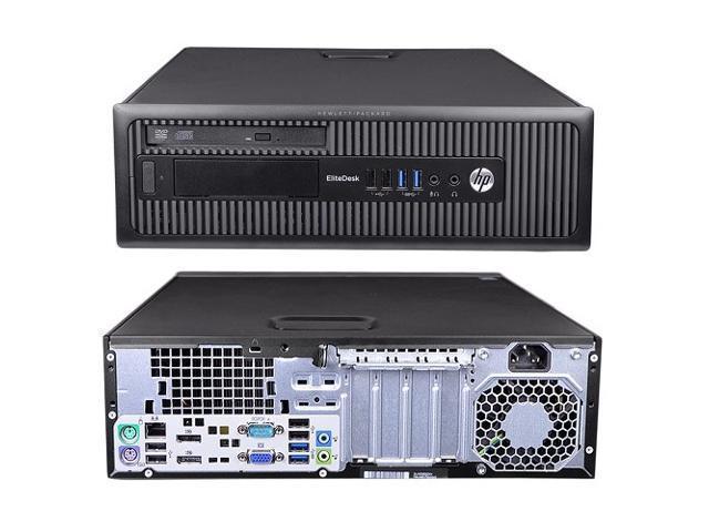 Refurbished: HP EliteDesk 800 G1 SFF - Intel Core i5-4590 3.30 GHz (Quad Core, 4th Gen.) - 4GB - 240GB  SSD - DVD/RW - Windows 10 Pro