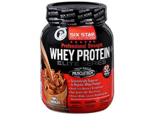 Six Star Pro Nutrition Whey Protein Plus Elite Series, Triple Chocolate, 2-Pound