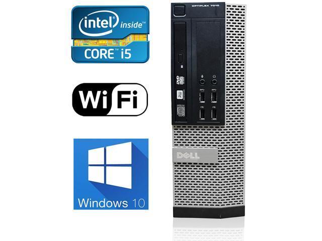 Refurbished: Dell OptiPlex 7010 Small Form Factor Workstation Computer, i5 Quad-Core 3470 3.2GHz Max Turbo Frequency 3.6GHz, 4GB Ram, 250GB SATA 7200rpm Hard Drive, WIFI, Bluetooth, Windows 10 Pro 64-bit