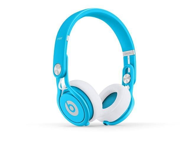Refurbished: Beats by Dr. Dre Mixr On-Ear Headphones - Neon Blue - Grade A Condition (90 Day Warranty)