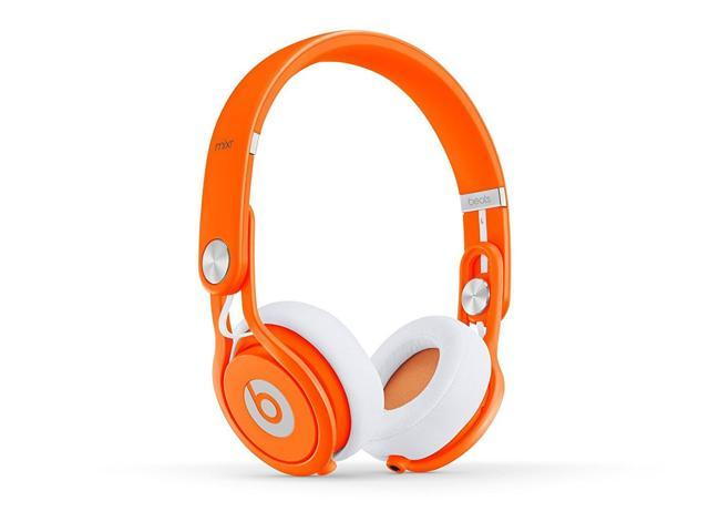 Refurbished: Beats by Dr. Dre Mixr On-Ear Headphones - Neon Orange - Grade A Condition (90 Day Warranty)