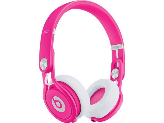 Refurbished: Beats by Dr. Dre Mixr On-Ear Headphones - Neon Pink - Grade A Condition (90 Day Warranty)
