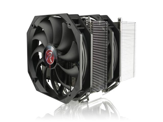 RAIJINTEK TISIS BLACK, Dual-Tower CPU Cooler, 5* 8mm Heat-Pipe, 2*14025mm PWM fans, install 3 fans, Fully Nickel Plating, Copper Base, Multiple Mouting Kit for Intel & AMD
