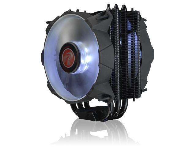 RAIJINTEK LETO B Slim CPU cooler with 12025 Blue LED PWM fan and black coating