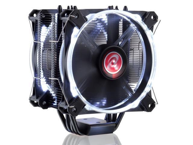 RAIJINTEK LETO PRO BLACK CPU cooler, with 2pcs performing 12025 LED PWM fan