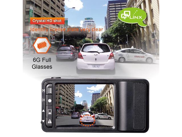 "QQLinx Linx Car Dash Cam – Full HD 1080P, 2.5"" LCD, Wide Angle View, H.264 Video coding, G-Sensor, Auto File Locking, Hit & Record and more(8GB SD card included)"