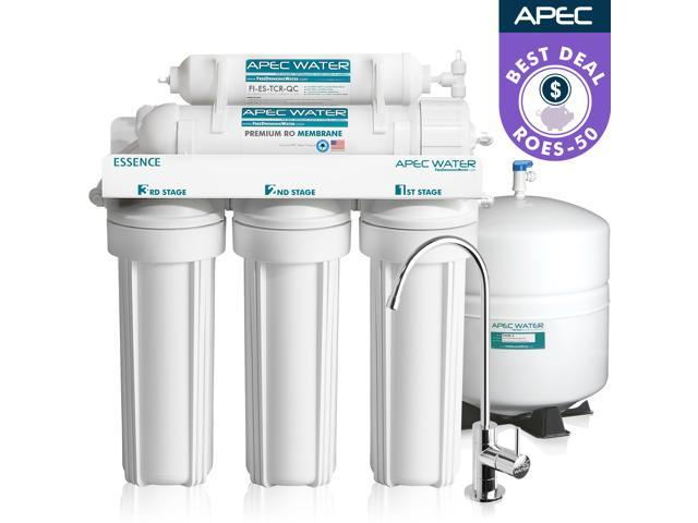 1c9a2db132f APEC Top Tier ROES-50 5-Stage Ultra Safe Reverse Osmosis Drinking Water  Filter ...