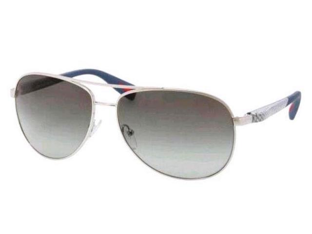 5709748fad4bf ... discount prada netex sport sps 51o 1bc 3m1 linea rossa silver grey  aviator sunglasses cb1b1 19ac8 ...