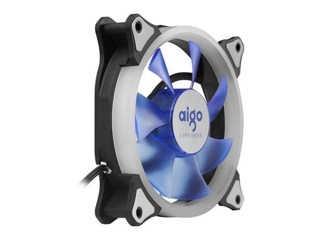 aigo Aurora 120 Angel Eye (Blue) - 120mm Cooling Fan with LED Halo Ring, 3-pin/LP4, Anti-Vibration Pads