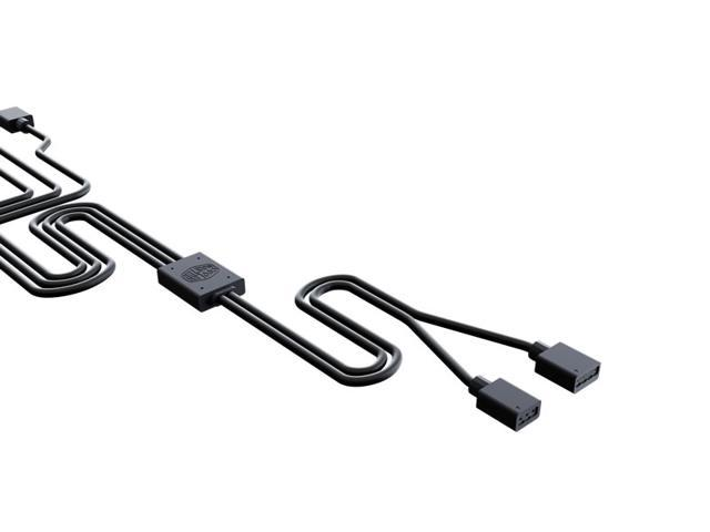 Cooler Master Addressable RGB 1-to-3 Splitter Cable with Gigabyte 3-pin ARGB Adapter