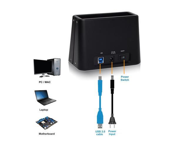 Wavlink USB 3.0 to SATA External Hard Drive Docking Station , For 2.5 and 3.5 inch HDD/SSD SATA I/II/III, Up to 8TB, Real Tool Free/One Touch Backup/UASP HDD/SSD External Enclosure