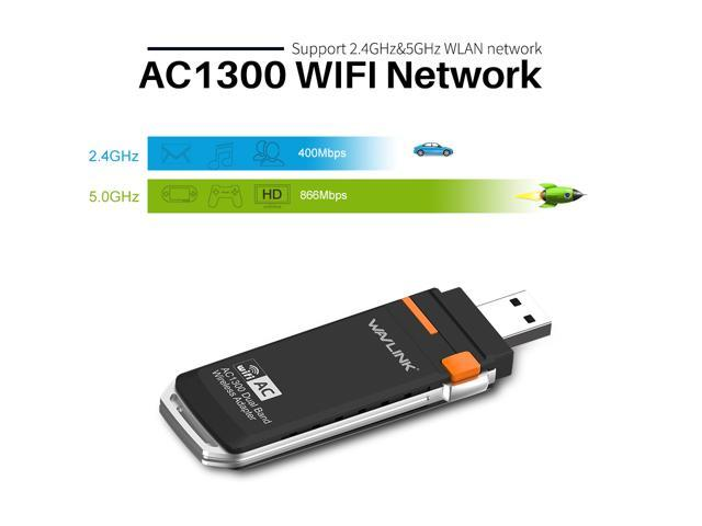 wavlink updated dual band ac1300 wireless usb 3 0 adapter. Black Bedroom Furniture Sets. Home Design Ideas