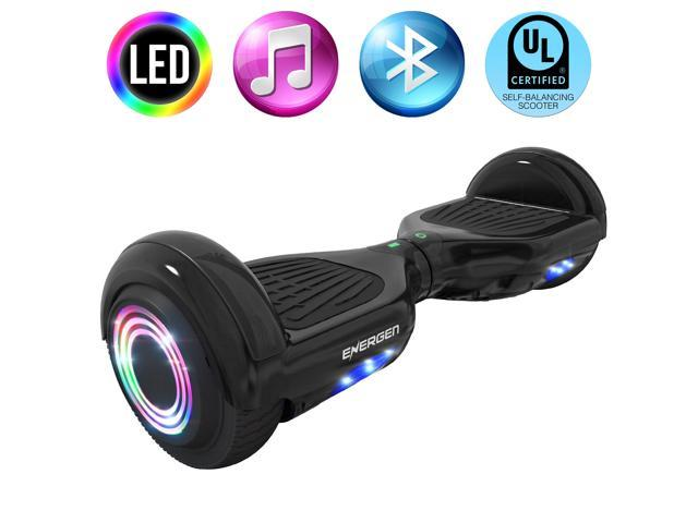 Energen® B651 Hoverboard Self-balancing Electric Scooter Hoverboard - Black Color - Active Balance Technology, Built-in Wireless Speaker &  LED Lights, UL 2272 Certified