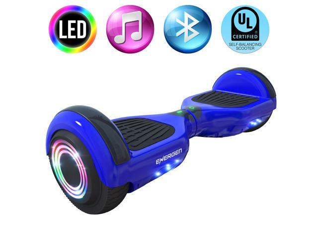 Energen® B651 Hoverboard Self-balancing Electric Scooter Hoverboard - Blue Color - Active Balance Technology, Built-in Wireless Speaker & LED Lights, UL 2272 Certified