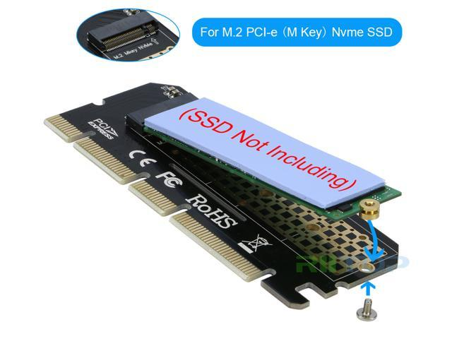 RIITOP NVMe PCIe Adapter M Key M.2 PCIe NVMe SSD to PCI-e Express 3.0 x4 x8 x16 Adapter Card Converter Support Full Speed 2230 2242 2260 2280 mm M.2 NVMe PCIe (M Key) SSD