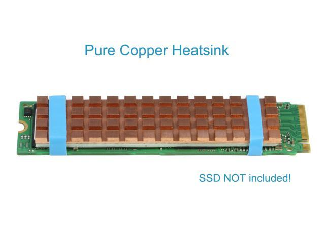 RIITOP M.2 NVMe SSD Heatsink 2280 for Samsung 970EVO NVMe SSD and SM951 SM961 950PRO XP9410 in Pure Copper with Matching Thermal Silicone Pad