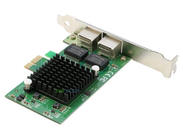 PCI-e Express Network Lan Card 1000M Dual RJ45 Gigabit Ethernet Adapter Control Card Intel 82575 Chipset with Low Profile Bracket