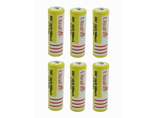 LEMAI® (YELLOW Ultrafire 10PCS) 5000mAh 3.7V 18650 NCR Rechargeable Li-ion Battery Pack For Ultrafire TrustFire LED Flashlight, Torch