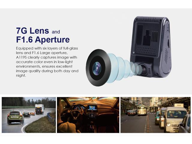 Official VIOFO A119S Car Dashcam with GPS (V2, Mid 2017) - Super Capacitor Built for Canadian Weather, 1080P 60FPS, CPL Compatible