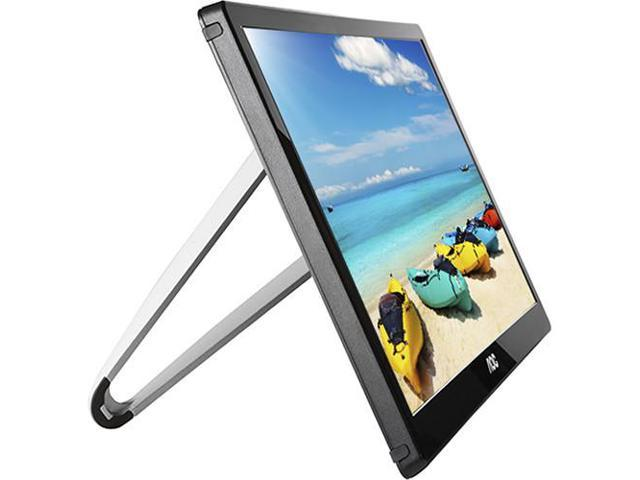 "Refurbished: AOC I1659FWUX 15.6"" USB-Powered Portable Monitor, Full HD 1920x1080 IPS, Built-in Stand, VESA"