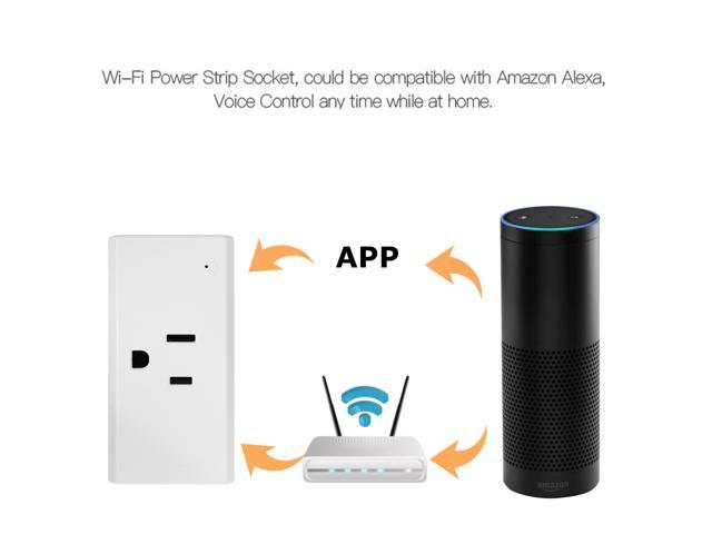 Remote Control Timer Switch WiFi Smart Outlet Power Socket Plug for Cellphone