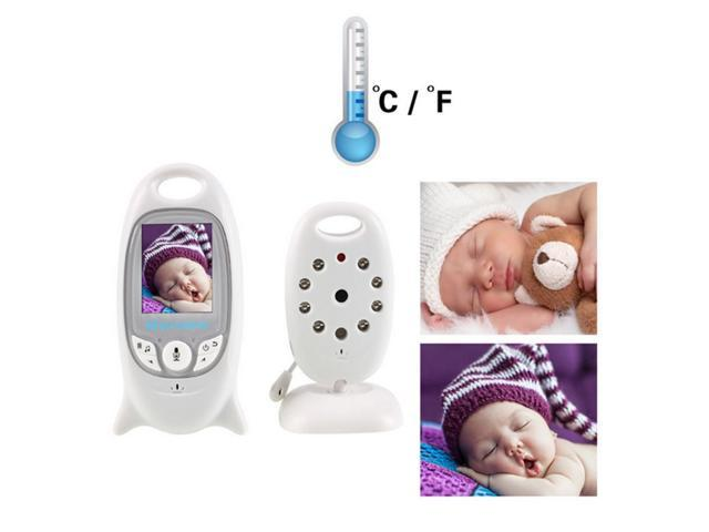 2.4GHz Digital Wireless Video Camera Thermometer Night Vision+ LCD Baby Monitor -US Plug