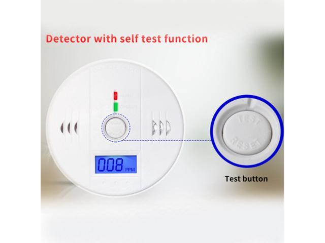 CO Carbon Monoxide Detector Alarm Sound Sensor Battery Operated Home Security