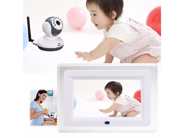 2.4G Wireless Digital 7'' LCD Night Vision Baby Monitor Camera Audio Talk Video