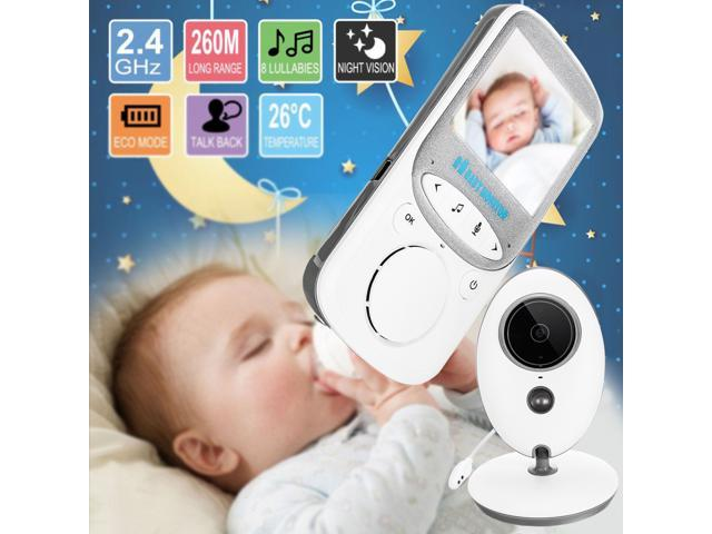 2.4G Digital Wireless Night Vision Baby Monitor LCD Audio Video Security Camera
