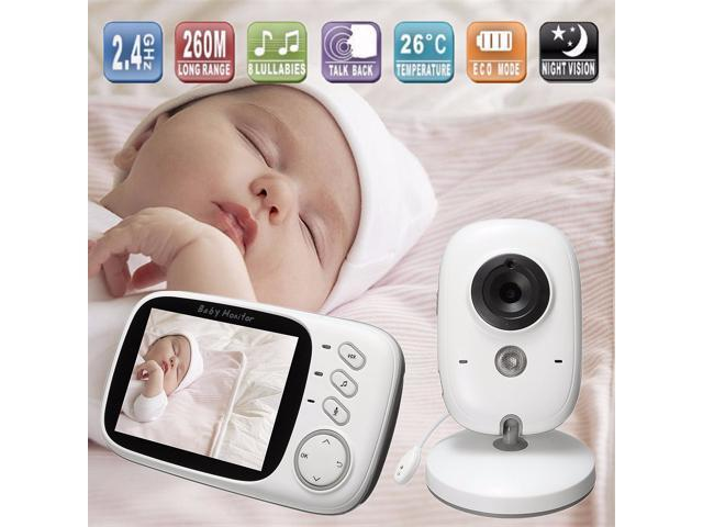 3.2 inch Wireless Digital LCD Baby Monitor Camera Audio Talk Video Night Vision-(with us adapter)
