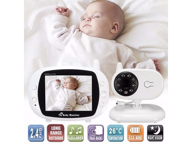 "2.4G Wireless Digital 3.5"" LCD Baby Monitor Camera Audio Talk Video Night Vision"