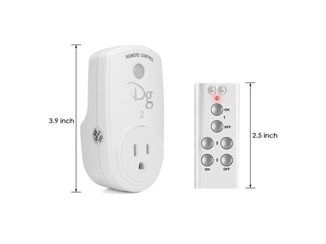 Smart Home Office RF Wireless Remote Control Socket Power Plug Controller US