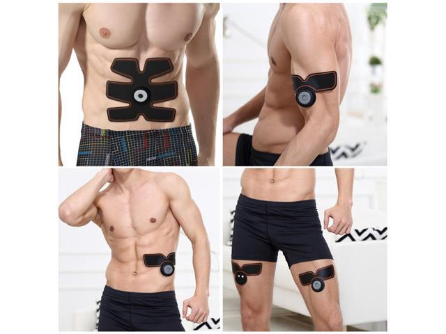 Abdominal Muscle Toner Charminer ABS Trainer Body Fit Toning Belt Portable Unisex Fitness Training Gear Wireless Muscle Exercise For Abdomen Arm Leg Men Women Home Office Workout Equipment