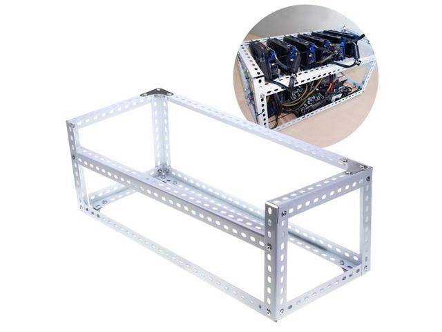 Aluminum Open Air Frame Mining Miner Rig Case For 6 GPU ETH BTC ...