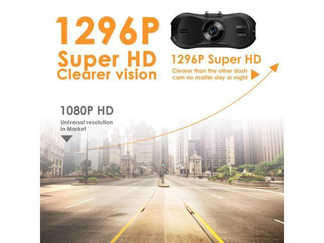 Vantrue R3 Car Dash Cam Super HD 1296P 4-Lane Wide-Angle View Lens In Car Recorder With G-Sensor, HDR, Loop Recording, Parking Mode & Time Lapse