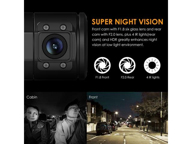 "Vantrue N2 Pro Dual Dash Cam Dual 1920x1080P Front and Rear(2.5K Single Front Recording) 1.5"" 310 Degree Dashboard Camera w/Infrared Night Vision, Sony Sensor, Parking Mode"