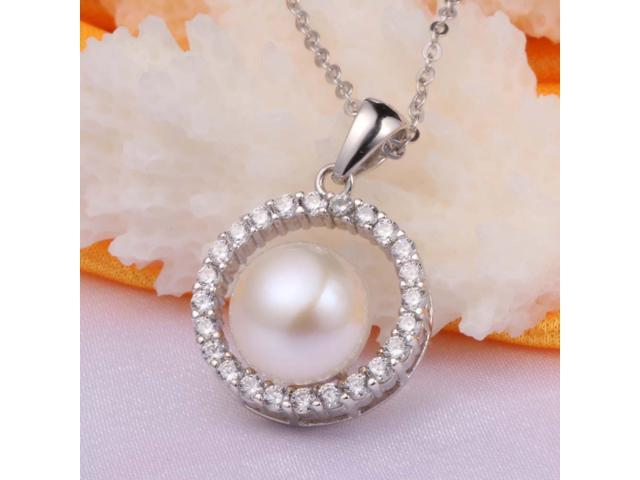 Natural freshwater pearl pendant necklace jewelry for women shipped natural freshwater pearl pendant necklace jewelry for women shipped from new jersey aloadofball Image collections