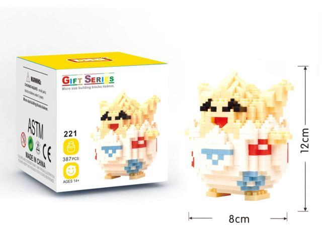 lno 221 pokemon 387pcs 3d diy diamond building block figure