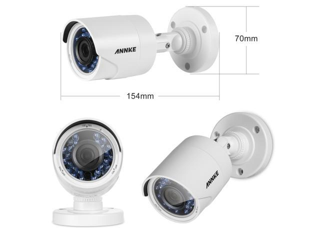 ANNKE 8CH 3.0MP HD-TVI 5-in-1 Surveillance DVR Security Camera System with (4) 2.0MP Outdoor CCTV Camera, No HDD
