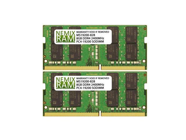 16GB (2x8GB) DDR4 2400 (PC4 19200) SODIMM Laptop Memory RAM